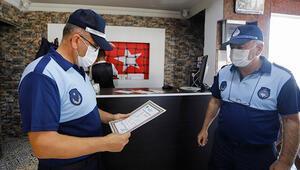 Ankarada zabıtadan iş yerlerine koronavirüs denetimi