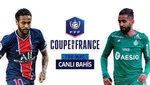 Fransa Kupası sahibini arıyor TEK MAÇta PSGye St. Etienne karşısında verilen iddaa oranı...