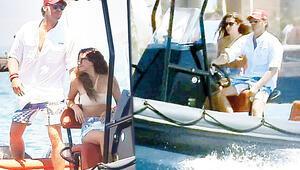 Başak Dizer-Kıvanç Tatlıtuğ çifti mavi turda... Kıvanç kaptan