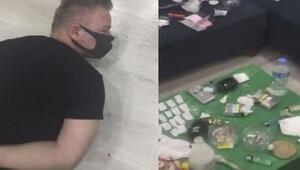 Bakırköyde otel odasındaki uyuşturucu ticaretine polis baskını kamerada
