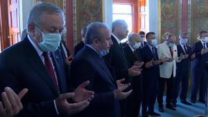 Fatihin türbesinde duayı Meclis Başkanı Şentop okudu