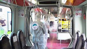 Toplu ulaşımda 4 bin 654 litre dezenfektan kullanıldı