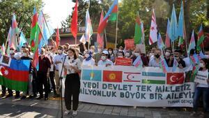 Kayseride STKlardan Azerbaycana destek