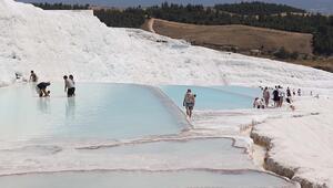 Turizmcilerden bayram tatili için Pamukkaleye davet