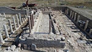 Tripolis Antik Kenti'ndeki anıtsal çeşmenin restorasyonuna başlandı