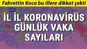 İllere göre Koronavirüs Türkiye tablosu günlük vaka sayısı.. İşte 27 Temmuz İstanbul, Ankara, Diyarbakır, İzmir, Bursa il il  koronavirüs sayıları