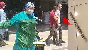 Maske takmasını isteyen mağaza müdürüne saldırdı
