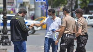 1012 kişiye maske cezası