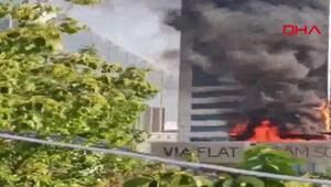 Ankarada plazada yangın paniği