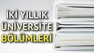 2 yıllık önlisans bölümleri puanları 2020 - TYT ile alım yapan bölümler ve başarı sıralaması