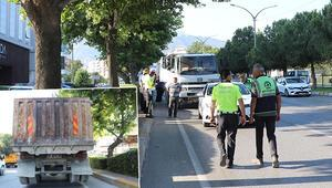 İki farklı plakası olan kamyonun şoförüne 11 bin lira ceza