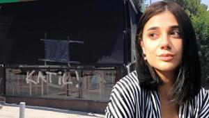 Pınar Gültekinin katilinin iş yerinin camındaki yazı silindi