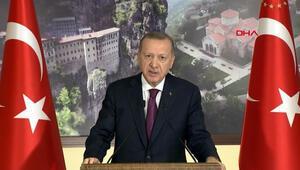 Cumhurbaşkanı Erdoğan, Sümela Manastırı ve Trabzon Ayasofya Camiinin açılışında konuştu