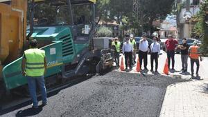 Balıkesirde asfalt çalışmaları sürüyor