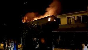 Edirnede korkutan yangın Evde maddi hasar oluştu