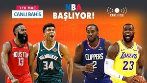 NBAde heyecan yeniden başlıyor Misli.comda Tek Maç, Canlı Bahis ve Canlı İzle bir arada...