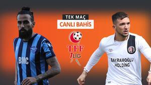 Süper Lige son bilet hangi takımın olacak Adana Demirsporun Fatih Karagümrük karşısında iddaa oranı...