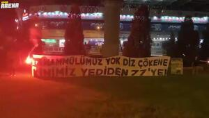Ülker Stadyumunun önünde Gökhan ve Canere veto