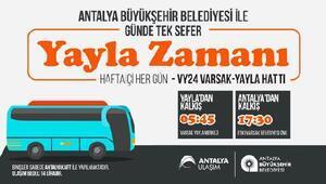 Varsak Yaylasına otobüs seferi 4 Ağustosta başlıyor