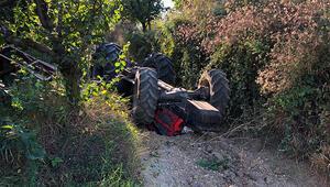 Sakaryada feci kaza Baba-oğul traktörün altında kaldılar...