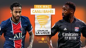 Fransa Lig Kupası sahibini arıyor TEK MAÇta PSGye Lyon karşısında verilen iddaa oranı...