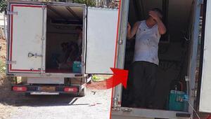 Kamyon kasasında kaçak kurban kesimi kamerada