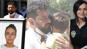 Yürek yakan anlar Polis eşine oğluyla böyle veda etti...