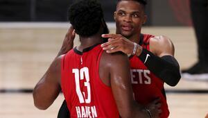NBAde Gecenin Sonuçları | Houston Rocketsı galibiyete Harden ve Westbrook taşıdı