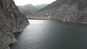 Çoruh Nehri üzerindeki 3 barajda, su seviyesi azaldı