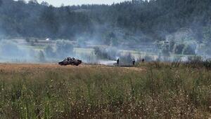 Orhanelide anız yangını