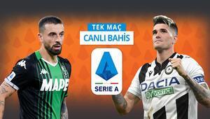 Sassuolonun müthiş sezonu Udinese maçıyla bitiyor Galibiyetlerine iddaada...