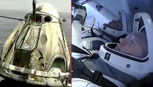 SpaceX'in uzaya gönderdiği NASA astronotları Dünya'ya geri döndü
