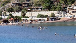 Tatilcilerden Marmarisin dünyaca ünlü doğal güzelliklerine yoğun ilgi