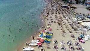 Saros Körfezine tatilci akını Nüfusu 500dü, şimdi 100 bini aştı