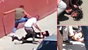 Cadde ortasında annesini döven gence dayak attılar