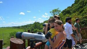 Longoz Ormanlarındaki Kuş Gözlem Kulesine ziyaretçi akını