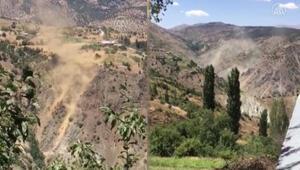 Pütürgede deprem anında oluşan toz bulutu görüntülendi