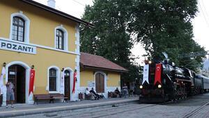 Atatürkü getiren kara tren yeninden Pozantıda