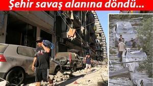 Şehir savaş alanına döndü... İşte korkunç patlama sonrası Beyrut sokakları