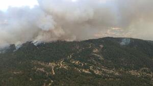 Gökbel Dağındaki yangına boru tamir etmek isteyen baba - oğul neden olmuş