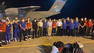 Türkiyeden gönderilen yardım uçağı Beyruta ulaştı