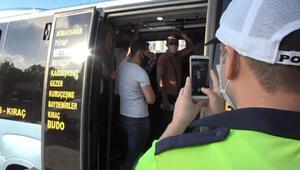 Esenyurtta yine aynı manzara; 36 yolcu taşıyan minibüsçüye ceza