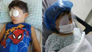 Minik İhsan Arda, torpil patlamasıyla görme yetisini kaybetti