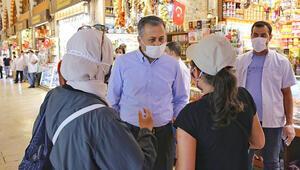 Vali Yerlikaya koronavirüs denetimlerine katıldı