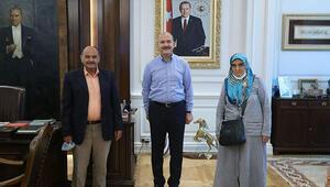İçişleri Bakanı Süleyman Soylu şehit aileleriyle görüştü