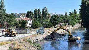Akköprü'de atık temizliği