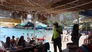 Bozyazıda tatilcilere de maske uyarısı yapıldı