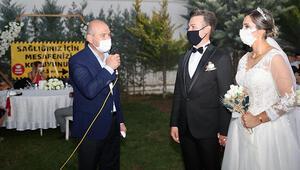 İçişleri Bakanı Süleyman Soylu düğün salonu denetimine katıldı