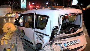 Üst üste iki kez çarptı Kazada 3 kişi yaralandı