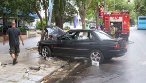 Bağdat Caddesinde korkutan kaza